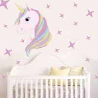 Beautiful Horse Stars Wall Decals For Kids Girls Room Diy  Home Decor LE SL
