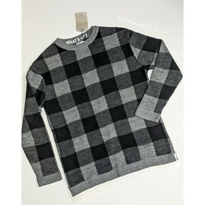 Zara Boys Checked Knit Sweater with T-shirt Hem Size 11-12 Years