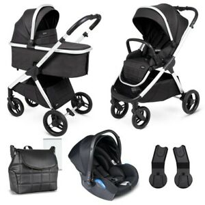 Venicci Insevio Dolphin 3 in 1 System Black Pearl Pushchair Carrycot Car Seat