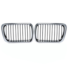Half Chrome Front Kidney Grille for BMW E36 3 Series 1997-2000 M3 1997-1999 ABS