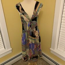 Sunny Leigh Shift Dress Multi-Color Cap Sleeves Women's US Size Large Summer