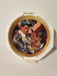 """Franklin Mint Royal Doulton Babe Ruth """"The Sultan of Swat"""" Collector Plate"""