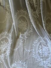 """LAST! STUNNING HUGE NEW 52""""X90"""" FRENCH INSPIRED STYLE LACE/NET CURTAINS"""