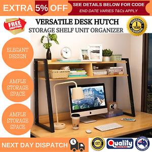 Versatile Desk Hutch Home Office Large Storage Shelf Unit Elegant Multifunction