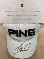 Lee Westwood AUTHENTIC Autographed PING HAT - UPS GOLF AMBASSADOR - Tiger Woods