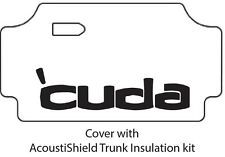 1969 Plymouth Cuda Trunk Rubber Floor Mat Cover with MA-048 Cuda