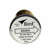 Bird 2500A Plug-in Element 0 to 2500 watts 25-60 Mhz for Bird 43 Wattmeters