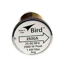 Bird 2500A Plug-in Element 0 to 2500 watts 25-60 MHz for Bird 43 Wattmeters