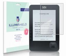 iLLumiShield Anti-Glare Screen Protector 3x for Kobo Wireless Wi-Fi eReader