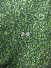 "ZEBRA PRINT POLAR FLEECE FABRIC - Small Stripe Lime - 36""X60"" SOLD BTY - 674"