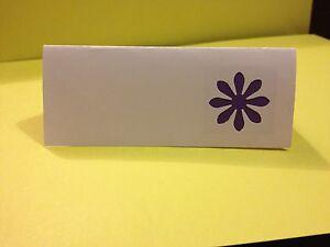 50 Cadburys Purple Flower wedding place name cards table name cards