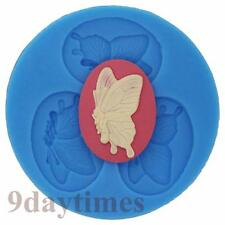 Butterfly Cabochon Silicone Mold For Polymer Clay Fimo Craft Cameo 40x30mm A207