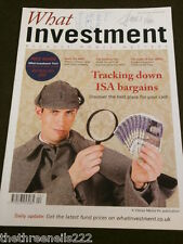WHAT INVESTMENT #313 -  TRACKING DOWN ISA BARGAINS - APRIL 2009
