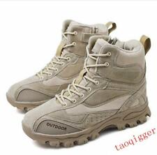 Mens High Top Military Tactical Boots Desert Army Hiking Combat Ankle Boots New