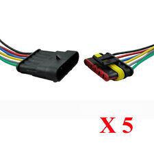 5x 6-Polig Kabel Set Steckverbinder Stecker Wasserdicht Steckverbindung