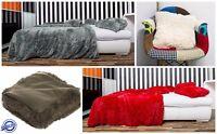 Soft Cosy Fur Fluffy Blanket Throw Pillowcase Bed Sofa Warm 100% Satisfaction