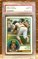 1983 Topps #482 Tony Gwynn HOF PSA 9 RC Rookie Card