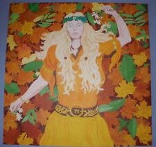 AUTUMN LEAVES  OIL ON CANVAS BY J.M.WALLACE