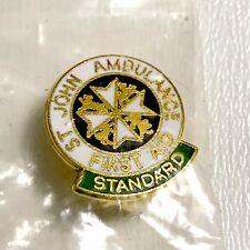 VINTAGE St John Ambulance Brigade First Aid Standard Lapel Pin A