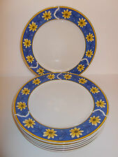 6 x Royal Norfolk White Ceramic Dinner Plates with Floral Edge Design - Lovely