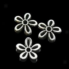 100Pcs Antique Metal Filigree Daisy Cap Spacers Charms Jewelry DIY Findings