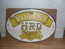Cast Iron Vincent Plaque