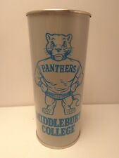16oz SCHLITZ 1969 MIDDLEBURY COLLEGE PANTHERS CUP BEER CAN #213-1 BASKETBALL