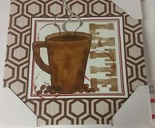 """1 RARE app. 12"""" x 12"""" KITCHEN WALL DECOR PICTURE, COFFEE CUP on canvas print"""