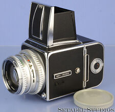 HASSELBLAD 500C CHROME CAMERA OUTFIT +80MM PLANAR 2.8 +A12 FILMBACK CLEAN NICE