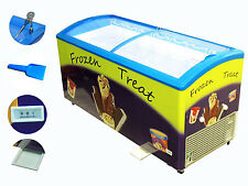 Zebra Products Commercial Ice Cream Freezer, 7 Baskets, Colorful attractive and