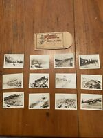 1936 12 Original Photographs of The Pikes Peak Trip Miniature B & W Souvenir