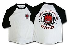 Spitfire Wheels Keeping The Underground Lit 3/4 Raglan Shirt White/Black Xl