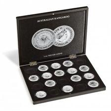 Coffret pour 20 monnaies Australian Kangaroo argent (1 oz.) en capsules noir