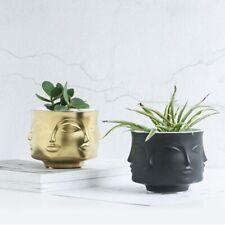 Man Face Flower Vase Home Decoration Modern Ceramic Vase Flowers Pot Planters