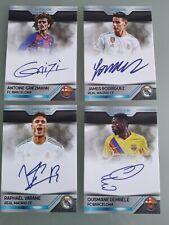 Custom Cards 4 Autographs Griezmann James Dembelé Varane Real Madrid Barcelona