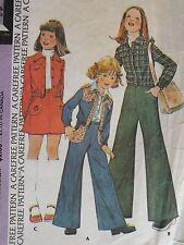Sassy VTG 74 McCALLS 4166 Girls Unlined Jacket Skirt & Pants PATTERN 12/30B