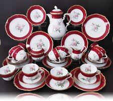 HUTSCHENREUTHER Cardinal Kaffeeservice für 12 Personen Rosen-Dekor Gold 39-tlg