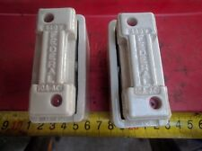 2x FEDERAL ceramic porcelain fuse blocks: 440V 10A-ACI