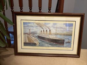 Titanic Print . Ready for Trials by Simon Fisher .276/850