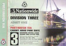 Ticket - Cheltenham Town v Rushden & D 06.05.02 Play-Off Final (Post-Match Tea)