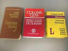 Lot of 3- Pocket size Dictionaries