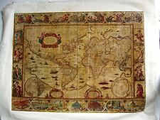 Nova Totius Terrarum Orbis Geographica Ac Hydrogra. Plaque thermocollé sur toile