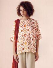 NEW Eskandar Bergdorf Goodman OYSTER/RUST Amber Petra Dura Linen Top (0) $695