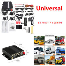 4Ch Car 3G/4G Wifi GPS Video DVR Recorder Dash Cam+4 Camera Cable Phone Monitor