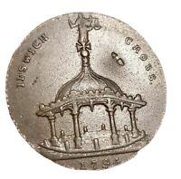 1794🔹️Ipswich Halfpenny Token Coin 'Cross Drapery' GB UK