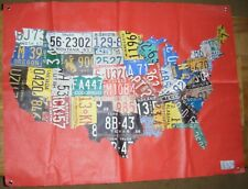 Aaron Foster License Plate Wall Canvas United States Continent