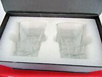 MIVIM Set of 2 Bourbon Whiskey Scotch Rocks Old Fashioned Glasses Gift Box
