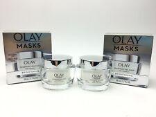 Olay Masks 2-pk Overnight Gel Brightening Mask w/Vitamin C 1.7 oz New C30 AA