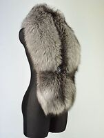 Fancy Saga Furs Silver Fox Top Quality Fur Collar Scarf Stole 51''