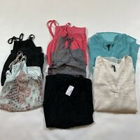 Lot Of SEVEN sIze M Maurices Items. 1 NWT Skirt, 2 Blouses, 4 Strappy Tanks